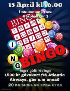 Bingo í skúlanum í Hovi