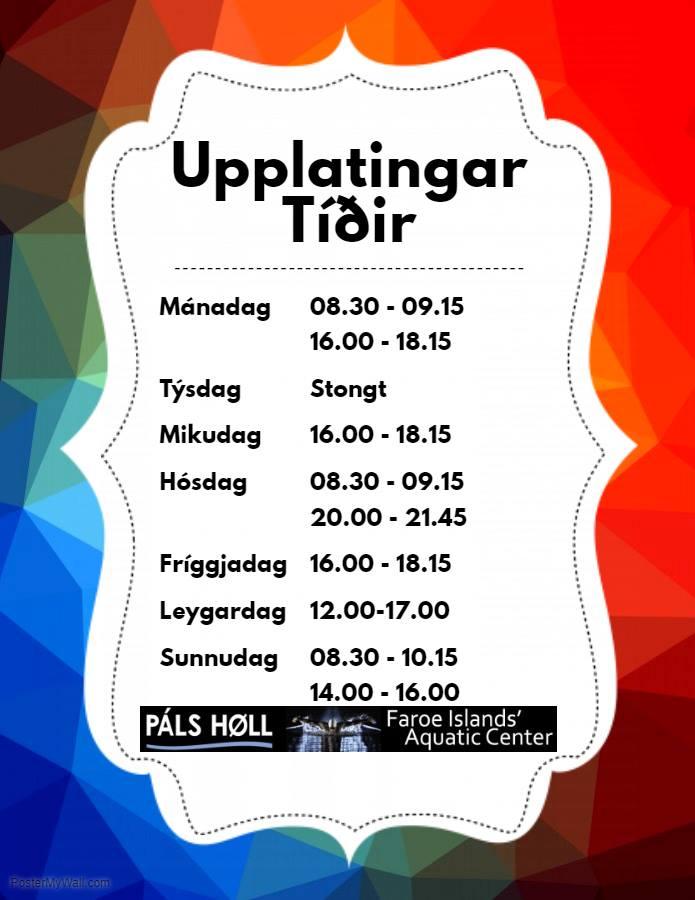 Páls Høll upplatingartíðir